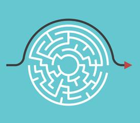 Fototapeta Circular maze, bypass route obraz