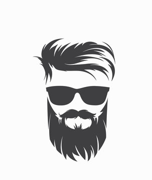 mens hairstyle with beard mustache