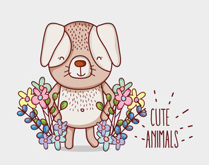Cute flowers doodle cartoons
