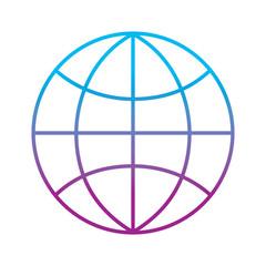 globe world technology connection concept vector illustration
