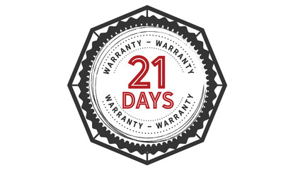 21 days warranty icon vintage