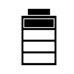 battery charging power energy icon vector illustration black and white design