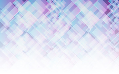 Abstract light violet and blue square background, vector