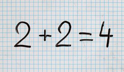 Mathematik addieren. Resultat