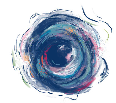 Abstract illustration of painted swirls