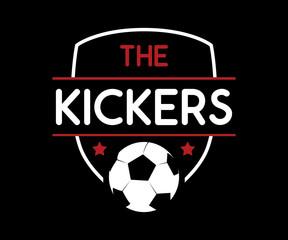 soccer football retro badge logo design set illustration