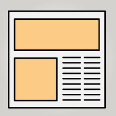 Vector icon of a site template, an example of a layout, a browser window