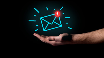 Hand showing Email concept