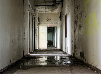 Destroyed corridor