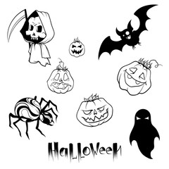 set of pictures for halloween