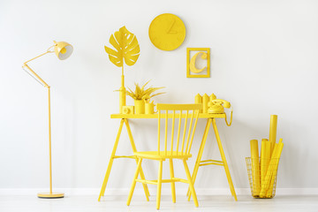 White and yellow room