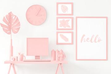Pink study corner