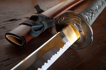 Japanese sword and sheath
