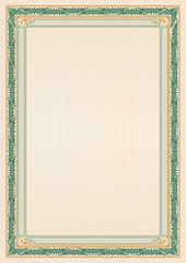 Ornate rectangular framework. Template for certificate, diploma, announcement, label. A4 proportions. Removable elements.