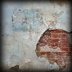 Old Yellow Brown Wall With Graffiti Art Frame Background Texture