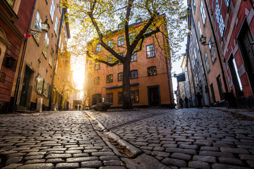 Gamla Stan at sunset, Stockholm, Sweden