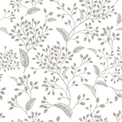 Natural vintage seamless pattern.
