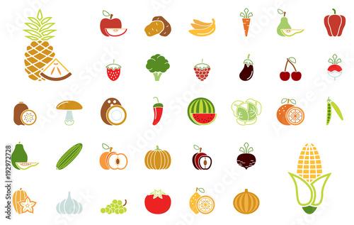 Obst und Gemüse - Iconset (Farbe)\