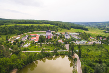 Dron View on Monastery Territory