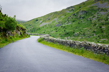 Isolated country road in Cumbria