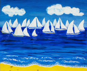 White regatta 3, painting