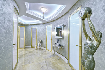 Russia,Moscow region - interior hall design in luxury house.