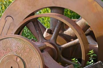 Old Industrial Gears Left Behind
