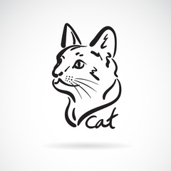 Vector of a cat head on white background. Pet. Animal. Easy editable layered vector illustration.