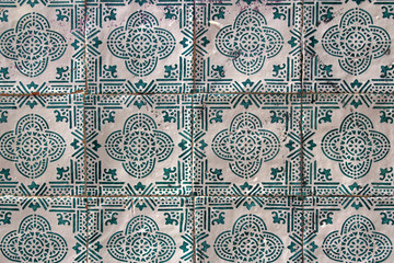 blue and white traditional portuguese tiles named azulejos