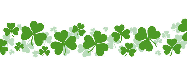 Festive Shamrock Background