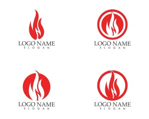 Fire flame icon sign logo