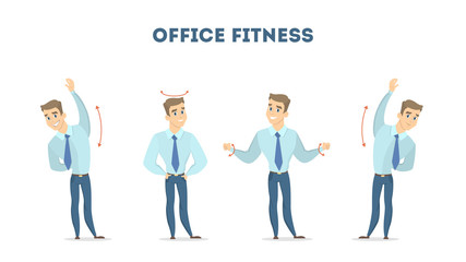 Workout for office.
