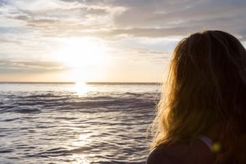 staring at the ocean