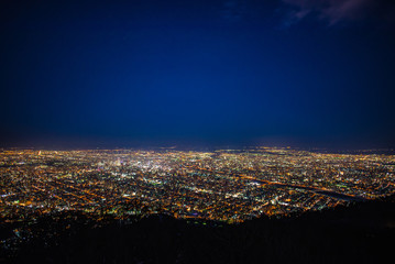 Night view of sapporo city