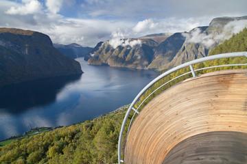 Foto auf Leinwand Skandinavien Stegastein Viewpoint