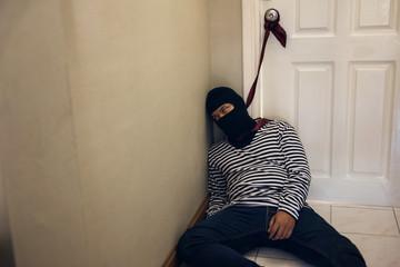 Suicide robber Male hanging at door