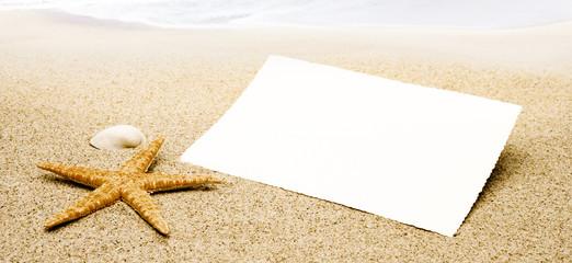 Karte am strand