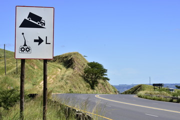 Road Safety: Sharp Curves with deep scars tell a story of past serious accidents