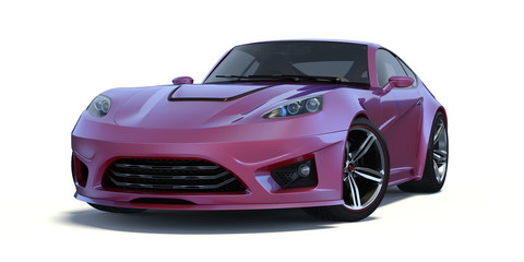 3D rendering of a generic concept car