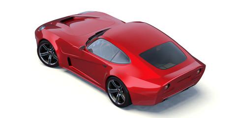 3D rendering of a generic concept car