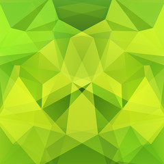 Abstract background consisting of green triangles. Geometric design for business presentations or web template banner flyer. Vector illustration