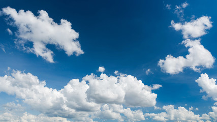 Beautiful blue sky and white clouds panorama