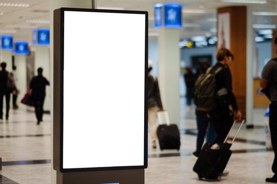 blank advertising billboard at airport.