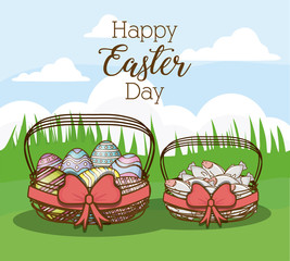 Happy easter day design