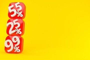 Numbers with percent symbols