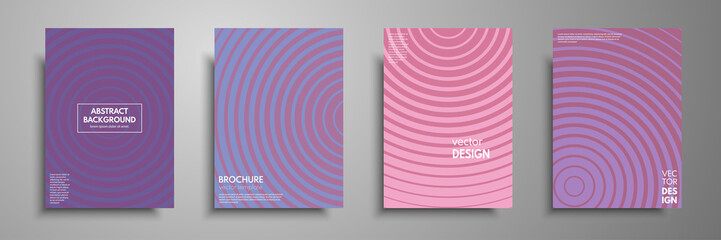 Minimal colorful cover template set. Abstract design template for brochures, flyers, banners, book covers, notebooks, catalog and annual