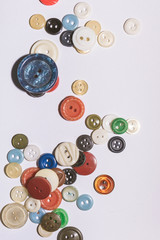 Multicolored buttons