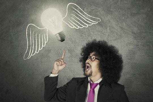 Creative businessman with an idea