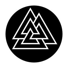 Valknut, three triangles. Ancient germanic symbol.