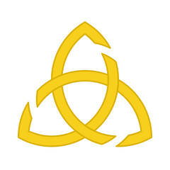 Golden Triquetra ornament without ring